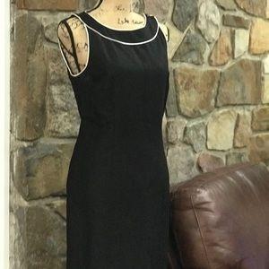 Ann Taylor Loft black sheath dress size 10